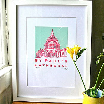St Paul's Cathedral Silk Screen Print