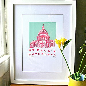 St Paul's Cathedral Silk Screen Print - screen prints