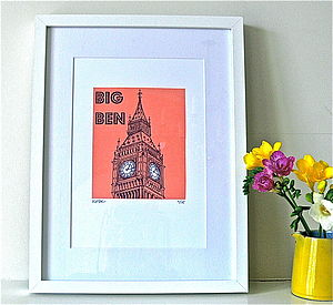 Big Ben Limited Edition Silk Screen Print