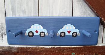car peg rack_denim blue with pale blue cars