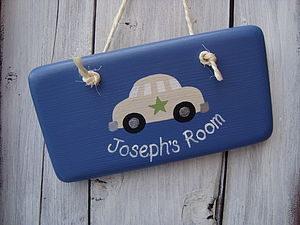 Personalised Car Door Sign - children's room