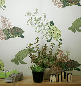 Turtle Turtle Wallpaper - children's room