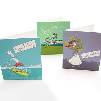 Unique Birthday Cards -3 For £5