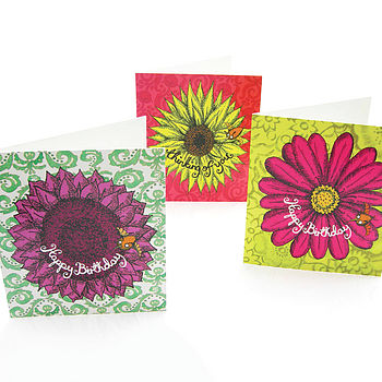 Flower Cards -3 For £5