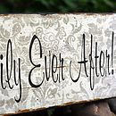 'Happily Ever After' Wedding Sign