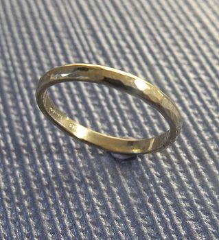 18 Karat Yellow Gold Hammered Ring