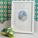 Vintage Bunny And Basket Print