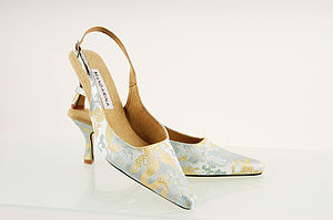 Brocade Slingback Shoes