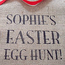 Personalised Easter Egg Hunt Sack