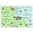 Custom Wedding Map - Full Colour Illustration