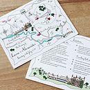 Custom Wedding Map With Full Custom Back