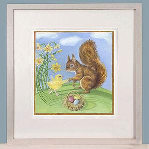 Easter Friends Art Print SALE - children's decorative accessories