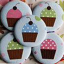 blue cupcake handbag mirror