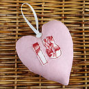 pink personalised 18th birthday heart front