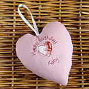 pink personalised birthday heart back
