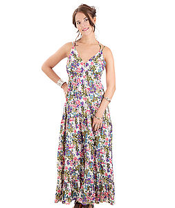 60% OFF Provence Cotton Summer Dress - maxi dresses