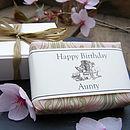 Personalised Soap in Honeysuckle & Rose Fragrance