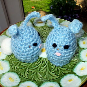 Handmade Easter Bunny Egg Cosy - easter home