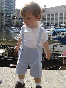 'Eric' Boy's Summer Shorts - wedding and party outfits