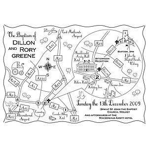 Print Your Own Mono Wedding Or Party Map - hen party styling