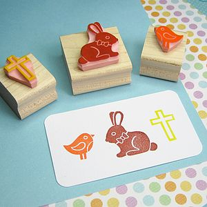 Easter Hand Carved Rubber Stamps