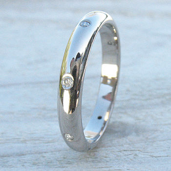 Handmade Diamond Eternity Ring In 18ct Gold