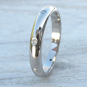 Handmade Diamond Eternity Ring In 18ct Gold - rings