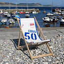 Personalised Recycled Sailcloth Deckchair At The Beach