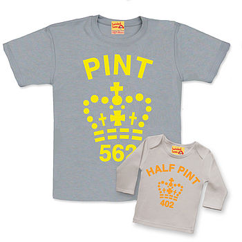Fluorescent Dad And Baby Pint Set
