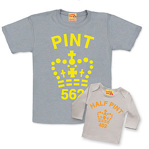 Fluorescent Dad And Baby Pint Set - t shirts and tops