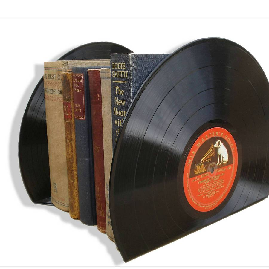 large vinyl record bookends lp 39 s by vinyl village. Black Bedroom Furniture Sets. Home Design Ideas