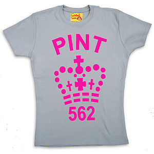 Fluorescent Ladies Pint T Shirt - women's fashion