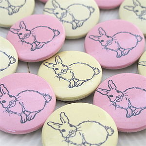 Easter Rabbit Badges - children's jewellery