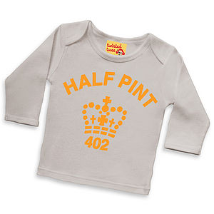 Fluorescent Half Pint T Shirt Gift For Boys And Girls - girl's t-shirts
