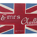 Union Jack 'Mr And Mrs' Wall Sign