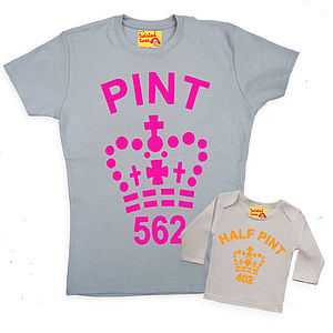 Fluorescent Mum And Baby Pint Twinset - children's mum & me sets