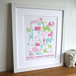 Children's Animal Art Print - gifts for babies