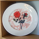 Roses with cut out pattern Sandwich/Dessert Plate