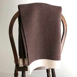 Chocolate Woollen Baby Blanket - bedding & accessories