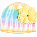 Tie Dyed Yellow Rose Hat