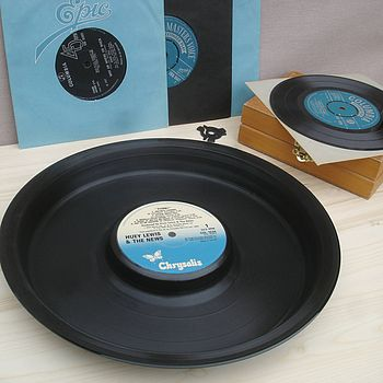 "12"" snack tray -  Chrysalis label"