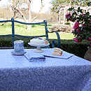 Cotton Lavender Oilcloth Tablecloth
