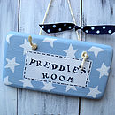 star door sign_powder blue and french navy