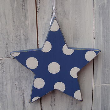 large spotty star_denim blue