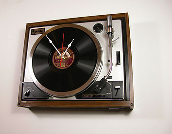 Personalised Vintage Sony HMV Record Clock