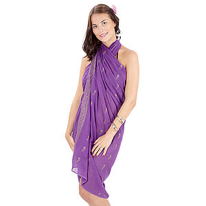 Block Print Cotton Sarongs - women's fashion
