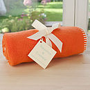 Orange Fleece Buggy Blanket