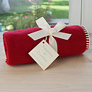 Red Fleece Buggy Blanket