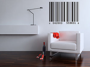 Barcode Wall Sticker - wall stickers