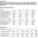 Antelope Clothing Kids Sizing Guide
